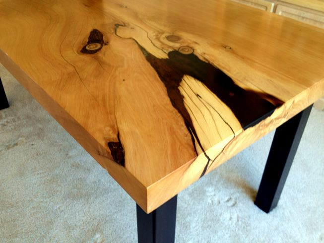 17 best images about live edge wood slab top dining tables for Finishing live edge wood