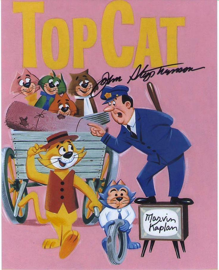 TOP CAT signed John Stephenson and Marvin Kaplan voices photo Hanna Barbera RARE  | eBay