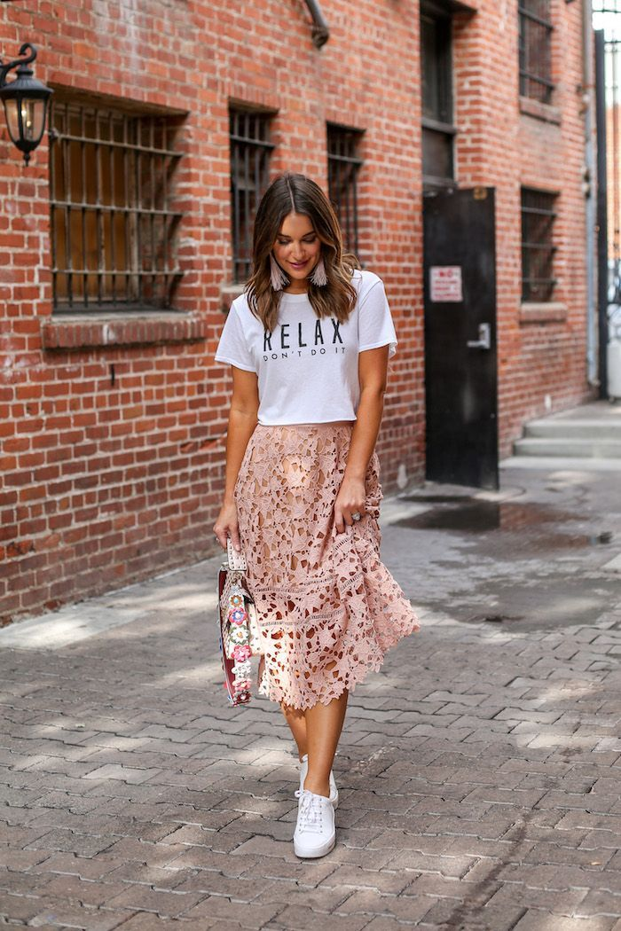 Styling Skirts and Sneakers | Skirt and
