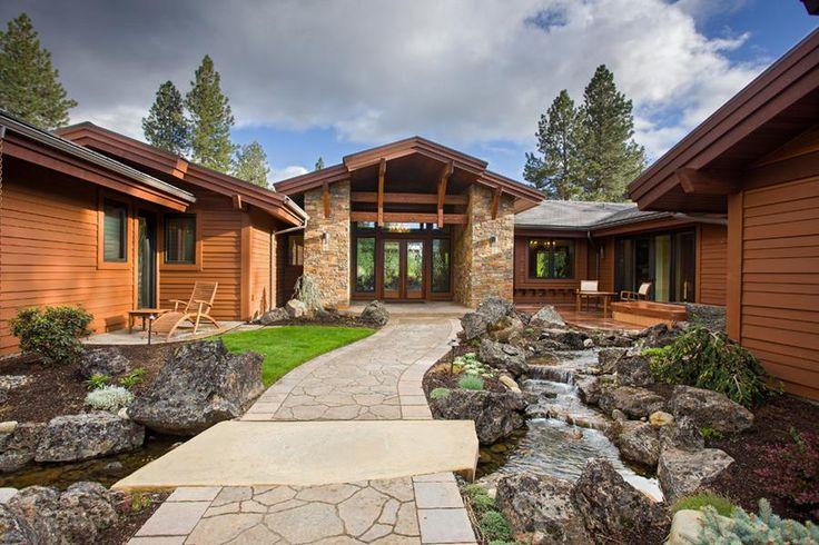 u-shaped one story house | long and winding road a u shaped house