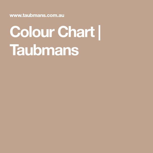 Colour Chart | Taubmans