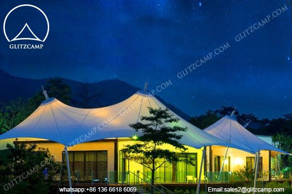 African Safari Tent for C&ing with Double Peaks - Glitzc& Gl&ing Tent Hotel -Luxury Lodge Tent- Safari Tents-Eco Dome House For Tent Resort & 12 best Glamping images on Pinterest | Glamping Dome tent and ...