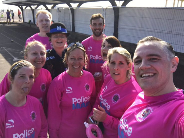 Portsmouth Police personnel work across the areas of Southsea and Portsmouth in Hampshire, an operational area of 1,500 square miles. Following a successful run at the Southsea Parkrun, some of the force gathered together in good spirits to take this 'out of office' office selfie.