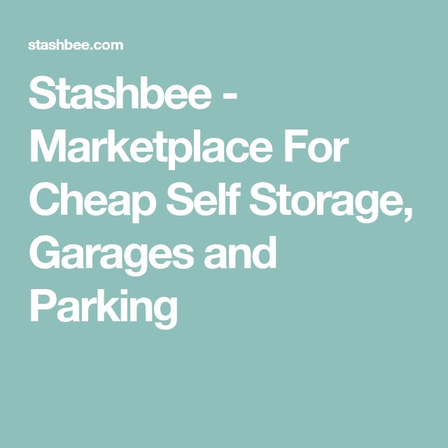 Stashbee - Marketplace For Cheap Self Storage, Garages and Parking