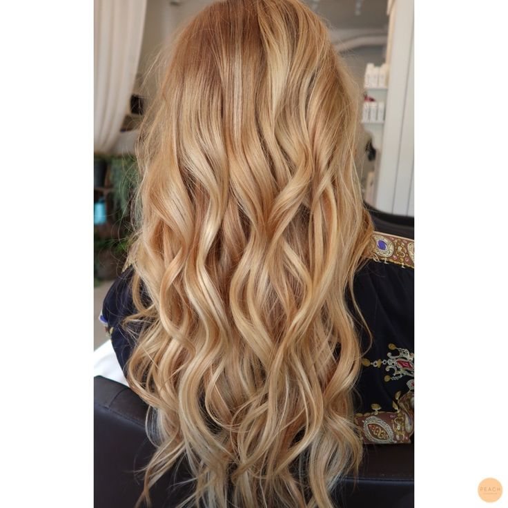 Warm blonde hair with highlights
