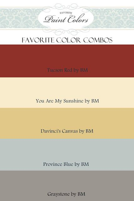 Favorite Paint Colors: Color Combinations for Tucson Red