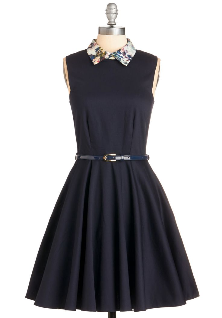 Complete Sophistication Dress. This navy-blue dress by Closet puts a stylish spin on effortless elegance! #blue #modcloth