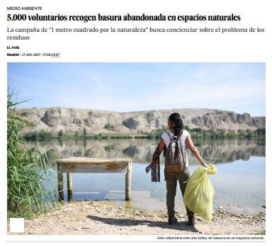 5.000 voluntarios recogen basura abandonada en espacios naturales / @el_pais | #readyforsustainability #readyforbiodiversity
