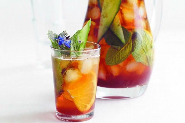 Drink a toast to this refreshing pomegranate and Pimms cocktail.