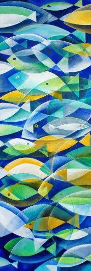 Fish II  50x150  acrilic on canvas /2014/ www.lora-nikolova.com