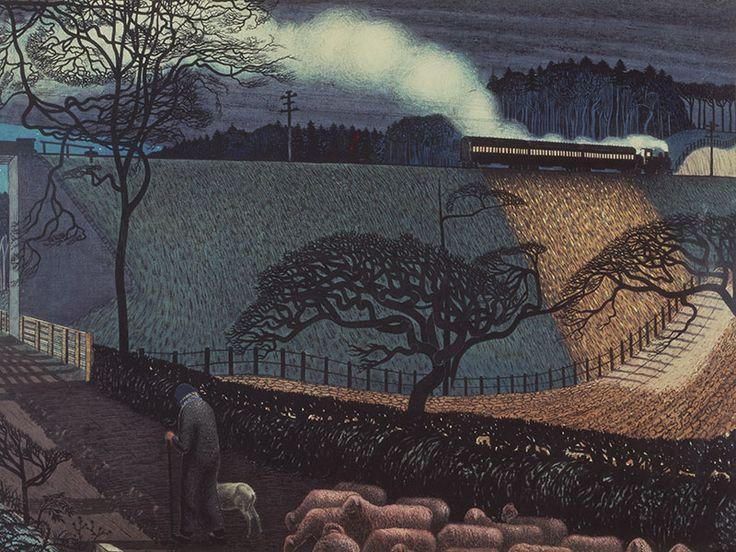 Claughton Pellew (1890-1966) - The Train, 1920