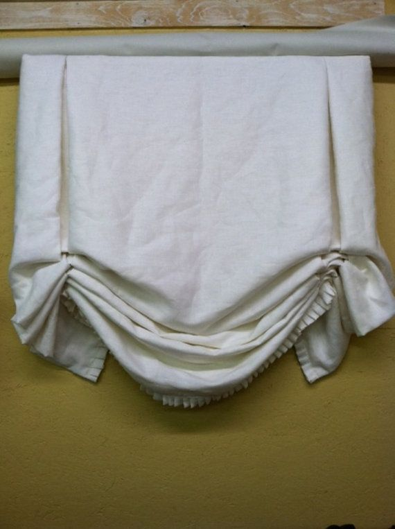 Tailored Relaxed Shade with Ruffled Hem or by cottageandcabin, $250.00. Cute!!  Lily's Rm.  bath Rm