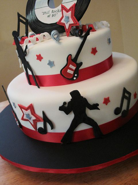 Rock And Roll Cake Designs
