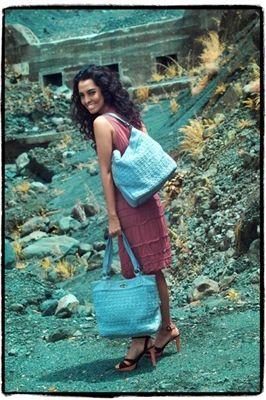 "DOWA Nylon Crochet ""Belief"" Hobo or Shopper Bag"