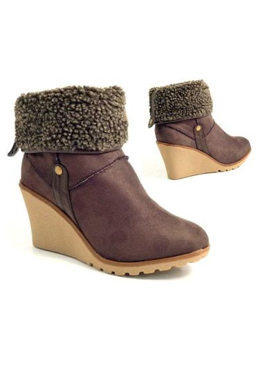 Ladies wedge heel faux fur ankle Boots at really low rates  ! Price £9.9 Only