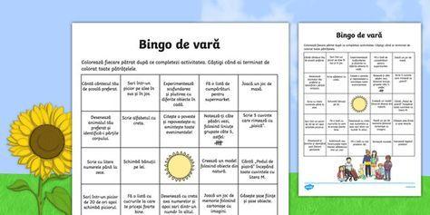 Bingo de vară, Joc