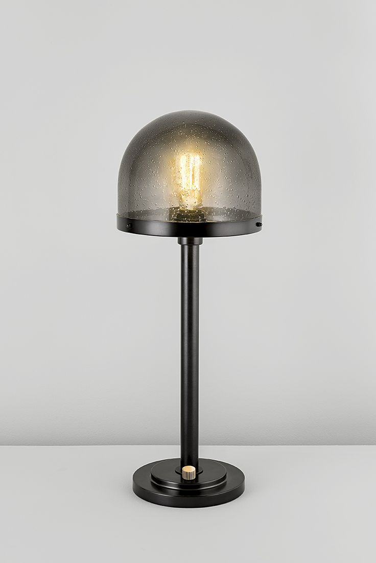 Portobello table lamp with heavy blown glass shades