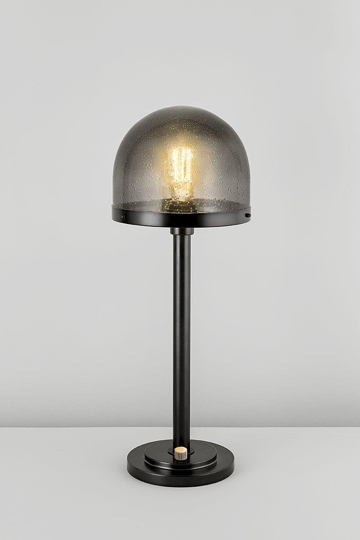 Portobello table lamp with heavy blown glass shades