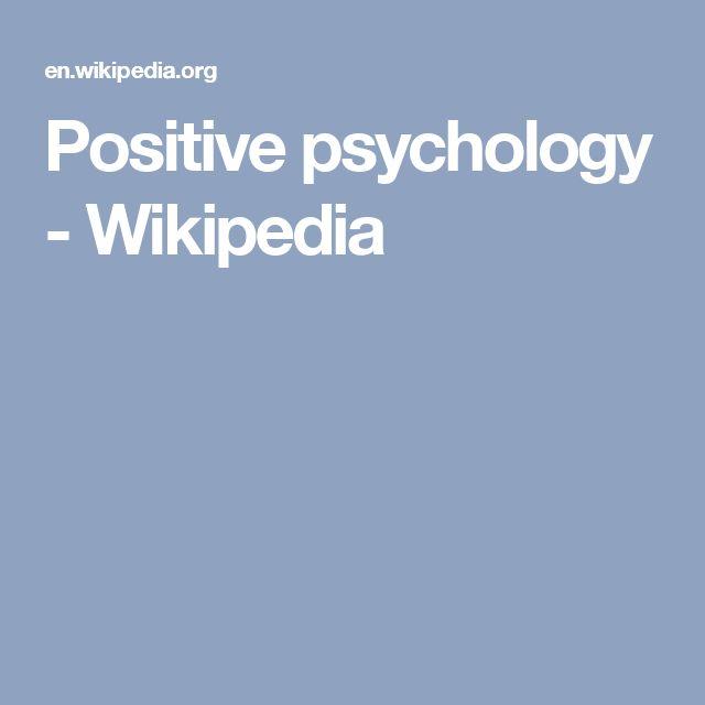 Positive psychology - Wikipedia
