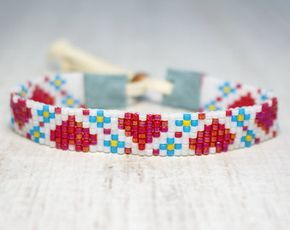 Seed Bead Bracelet Beaded Jewelry Women's by SKBeadedJewelry