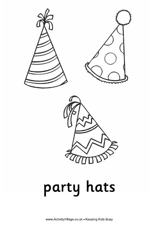 129 best images about coloring b day 39 s parties more on for Coloring pages of birthday hats