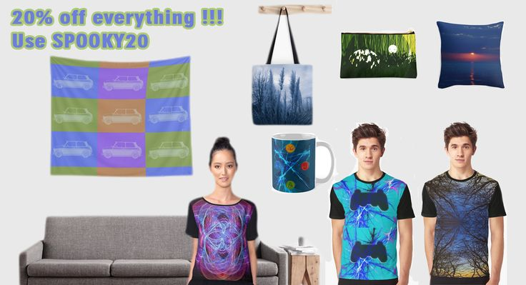 20% OFF everything.  Use SPOOKY20  All design by Emily Pigou #sales #discount #OctoberSales #October #Fall #FallSales #redbubble #emilypigou #tshirts #Halloween #buygifts #giftsforhim #giftsforher #homegifts #homedecor #buytshirts #iPhonecases #xbox #ps3 #gaming #gaminggifts #gamer #walltapesrty #livingroom #sofapillows #throwpillows #bedroom #duvetcover #gamersroom #mancave #gamergifts #fashion #fall2016 #style #colorful
