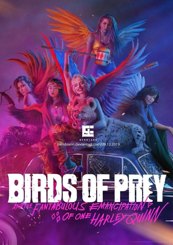 Birds of Prey poster em 2020 Aves de rapina, Arlequina, Aves