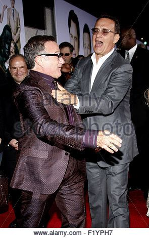 HOLLYWOOD, CA - NOVEMBER 09, 2009: Robin Williams and Tom Hanks at the World premiere of 'Old Dogs'. - Stock Photo