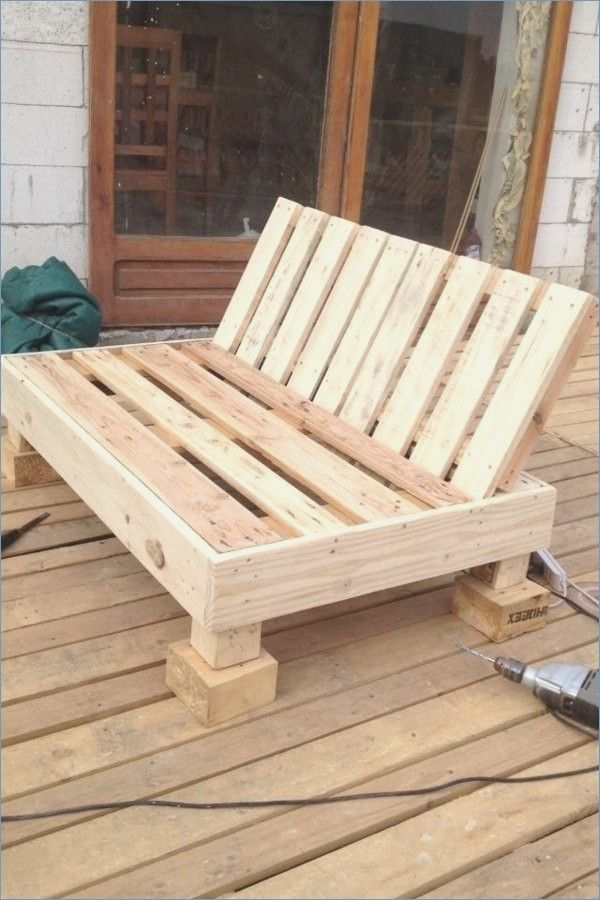 Bench Self Build Pallet Furniture Pallet Furniture Outdoor Diy