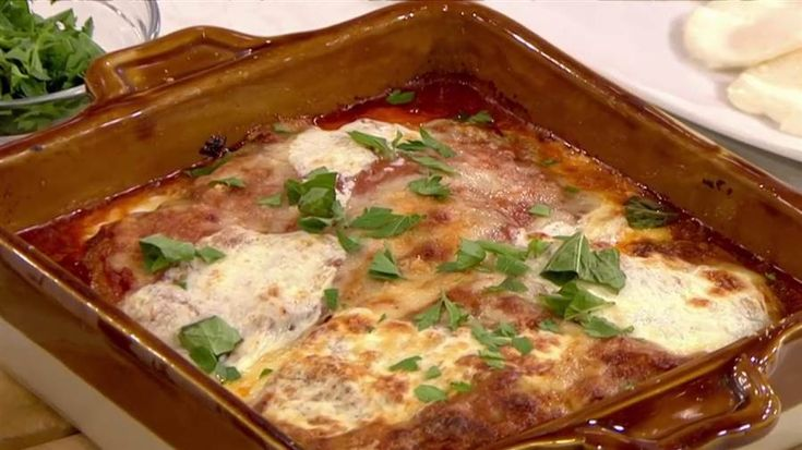Chicken Parmesan ~ Today Show Food Recipe from Laura Vitale serves up a deliciously cheesy chicken parm.