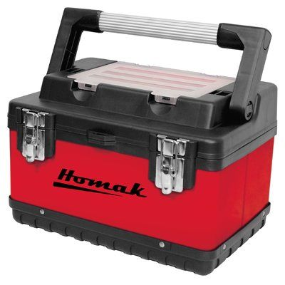 "Homak Metal and Plastic Hand-Carry 15"" Tool Box"
