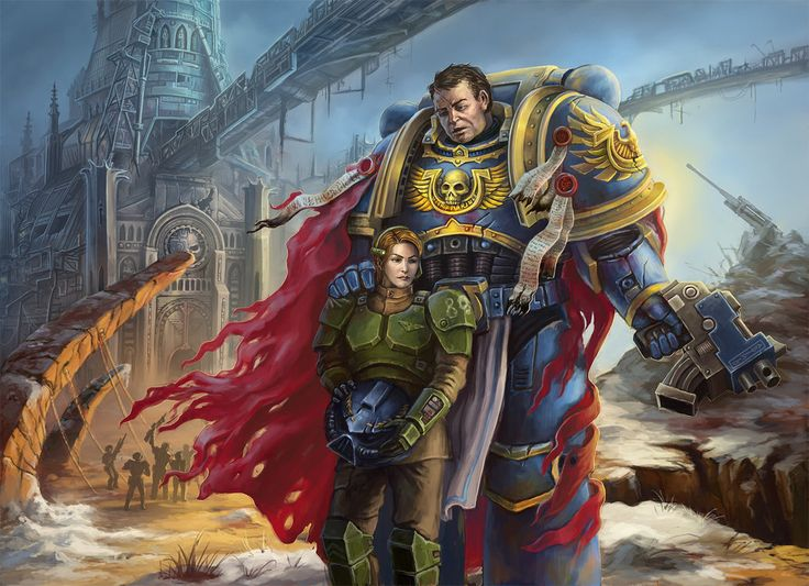 """titled: """"It's not my fault""""... Finally it's over. Captain Titus and lieutenant Mira met again. Titus managed to prove his loyalty to the Emperor and Imperium and his innocence. And he fought with 203 Cadian again. Inspired by """"The Space Marine"""" game."""