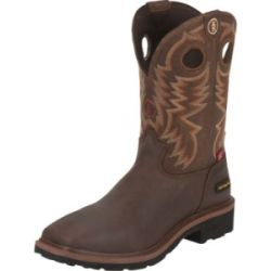 sale Tony Lama Men's Briar Grizzly 3R Waterproof Composite-Toe Work Boots - Brown (10.5)