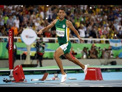 Wayde Van Niekerk Men's 400m WORLD RECORD WINNER RIO 2016
