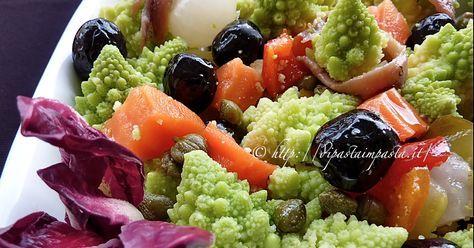 Insalata di rinforzo con il broccolo romano