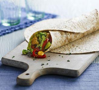 Spicy Quorn & avocado wraps