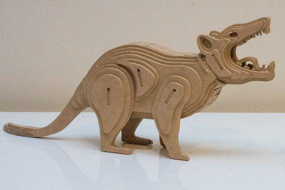 Tasmaanse duivel Australische dieren serie 3D houten door OzToymaker
