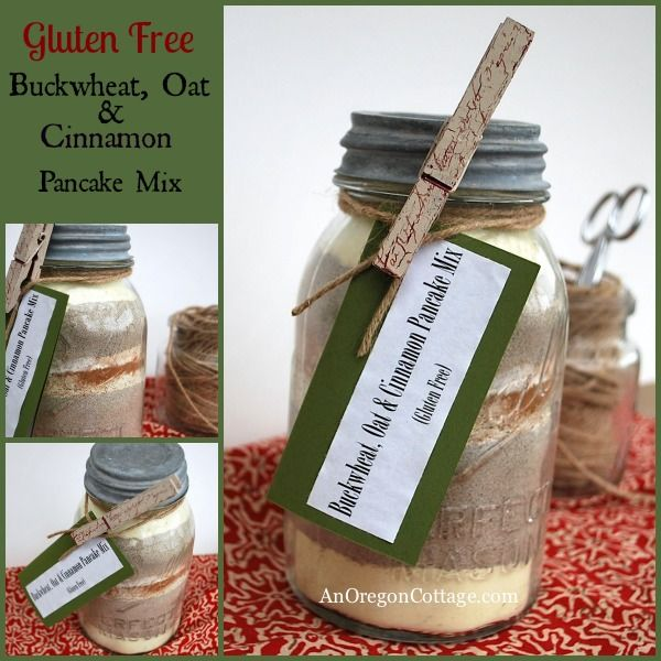 If you are looking for a gluten-free alternative to my awesome Cinnamon-Oat Pancake Mix, either for gift-giving to family and friends with gluten intolerances or for yourself, have I got an easy and tasty recipe for you! The thing that's the cooles