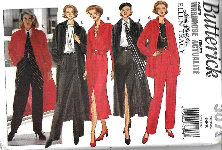 Linda Allard for Ellen Tracy Butterick 3079 Misses/Miss Petite Shirt, Dress, Skirt, Pants & Scarf, Size 6-10, UNCUT by DawnsDesignBoutique on Etsy