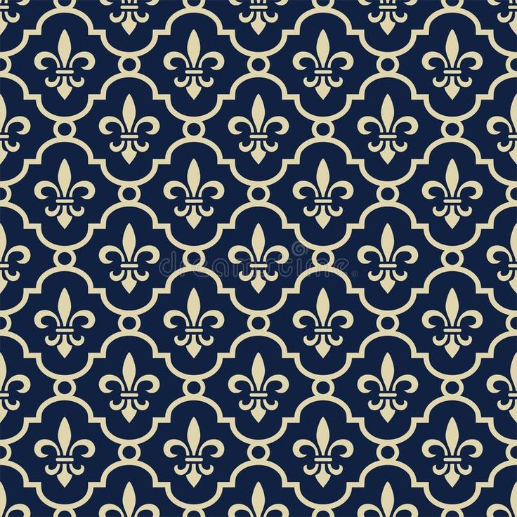 Royal blue background. Retro royal background with fleur