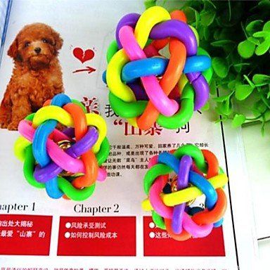BuW New Medium Colorful Twisted Rainbow Belt Dog Toy Balls with Bell for Pets pet supply stores pet accessories cool dog toys >>> Want to know more, click on the image.(This is an Amazon affiliate link)