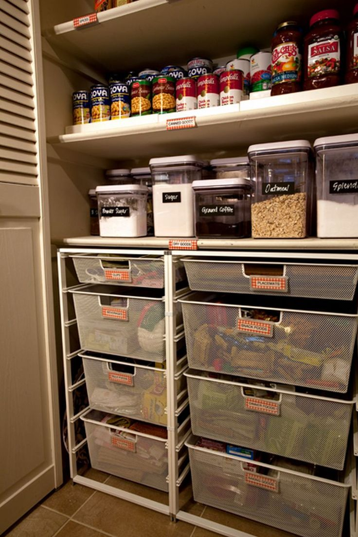 76 best images about pantry organization ideas on for Kitchen pantry plans