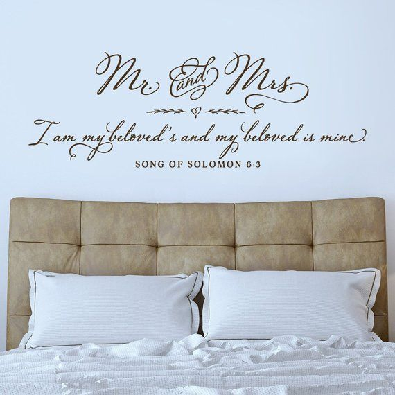 Bedroom Wall Decal Bedroom Wall Art Vinyl Wall Sticker For Etsy In 2020 Wall Decals For Bedroom Bedroom Wall Art Wall Stickers Bedroom
