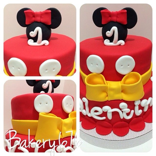 Pictures Of Mickey Mouse And Minnie Mouse Cakes