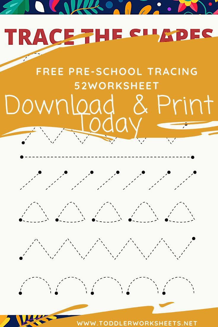 Tracing The Shapes Worksheet 2 Shape Tracing Worksheets Shapes Worksheets Preschool Worksheets Free Printables [ 1102 x 735 Pixel ]