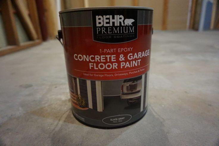 Diy Flooring Behr 1 Part Epoxy Concrete And Garage Floor Paint Epoxy Floor Bas Garage Floor Paint Diy Flooring Concrete Epoxy