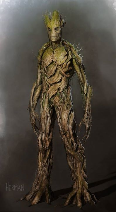 Groot Concept Art For Marvel's GUARDIANS OF THE GALAXY ...