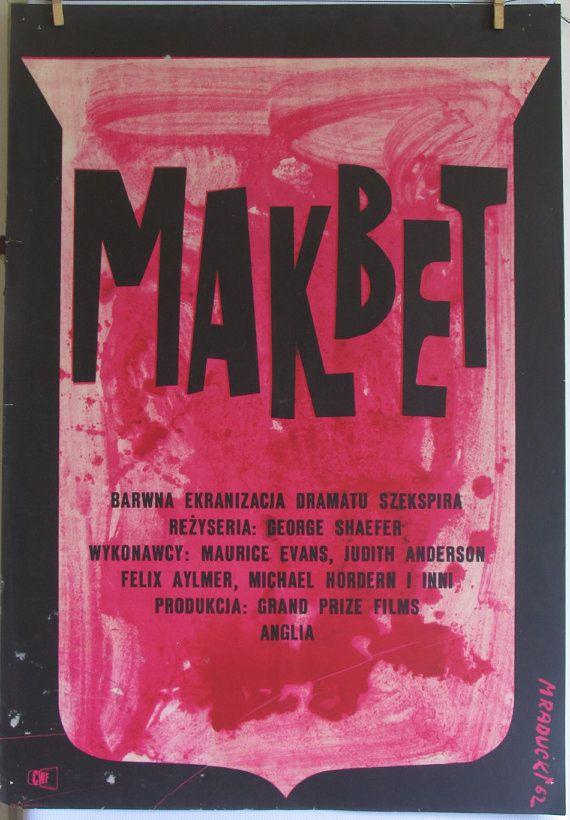 MACBETH. POLISH SCHOOL of cinema posters  Maciej by artwardrobe, $299.99