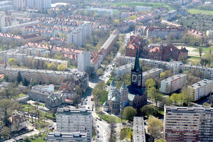Widok ze Sky Tower we Wrocławiu