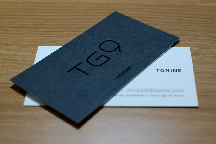 TGNINE 명함인쇄 제작후기 | 프린트로보코리아